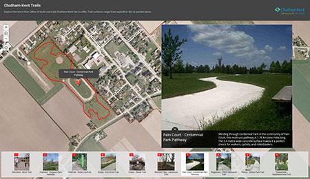 Interactive Municipal Trail Map